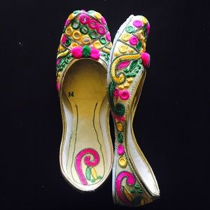Shoes - New ! Mirror Embroidered Indian Shoes